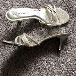 Rampage Shoes - Open back strappy kitten heel